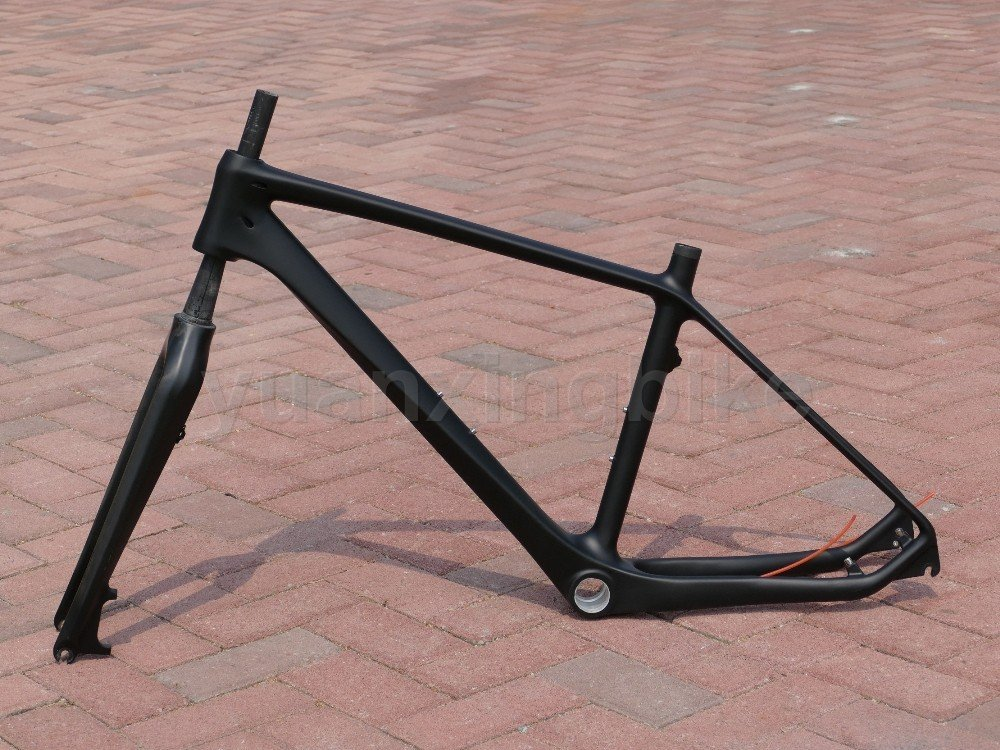 203# Toray Carbon MTB Frame Full Carbon 3K Matt Mountain Bike 26ER BSA Frame 16'' Fork Headset
