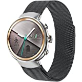 ZENWATCH 3 Band,Oitom premium Woven Milanse loop stainless steel watch band strap for ASUS ZENWATCH 3 Smart Fitness Watch(Black)
