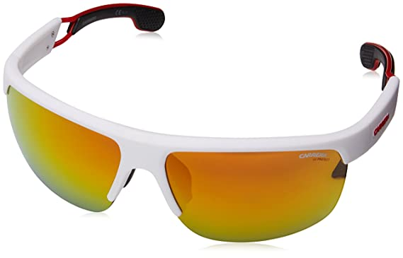 Carrera Eyewear Herren Sonnenbrille » CARRERA 4004/S«, weiß, 6HT/7F - weiß/rot
