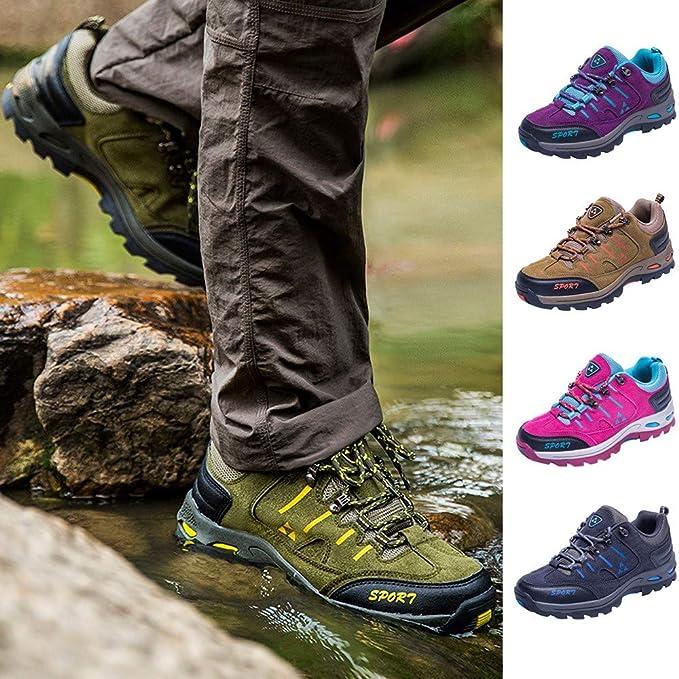 Zapatos de Senderismo para Pareja,ZARLLE Zapatillas Ligeras de Escalada Botas de Trekking al Aire Libre Seguro Respirable Calzado Deportivo para Correr Climbing Gimnasio Zapatos de Trekking: Amazon.es: Ropa y accesorios