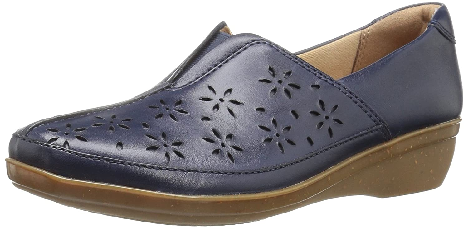 Navy Leather Clarks Women's Everlay Dairyn Loafer Flats