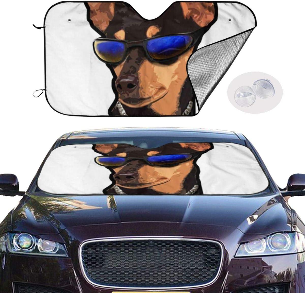 Label Love Long Hair Black Chihuahua Dog Cool FUUNY Windshield Sun Shade Sunshades Keep Vehicle Cool Protect Your Car from Sun Heat /& Glare Best Uv Ray Visor Protector Size 27.5X 51