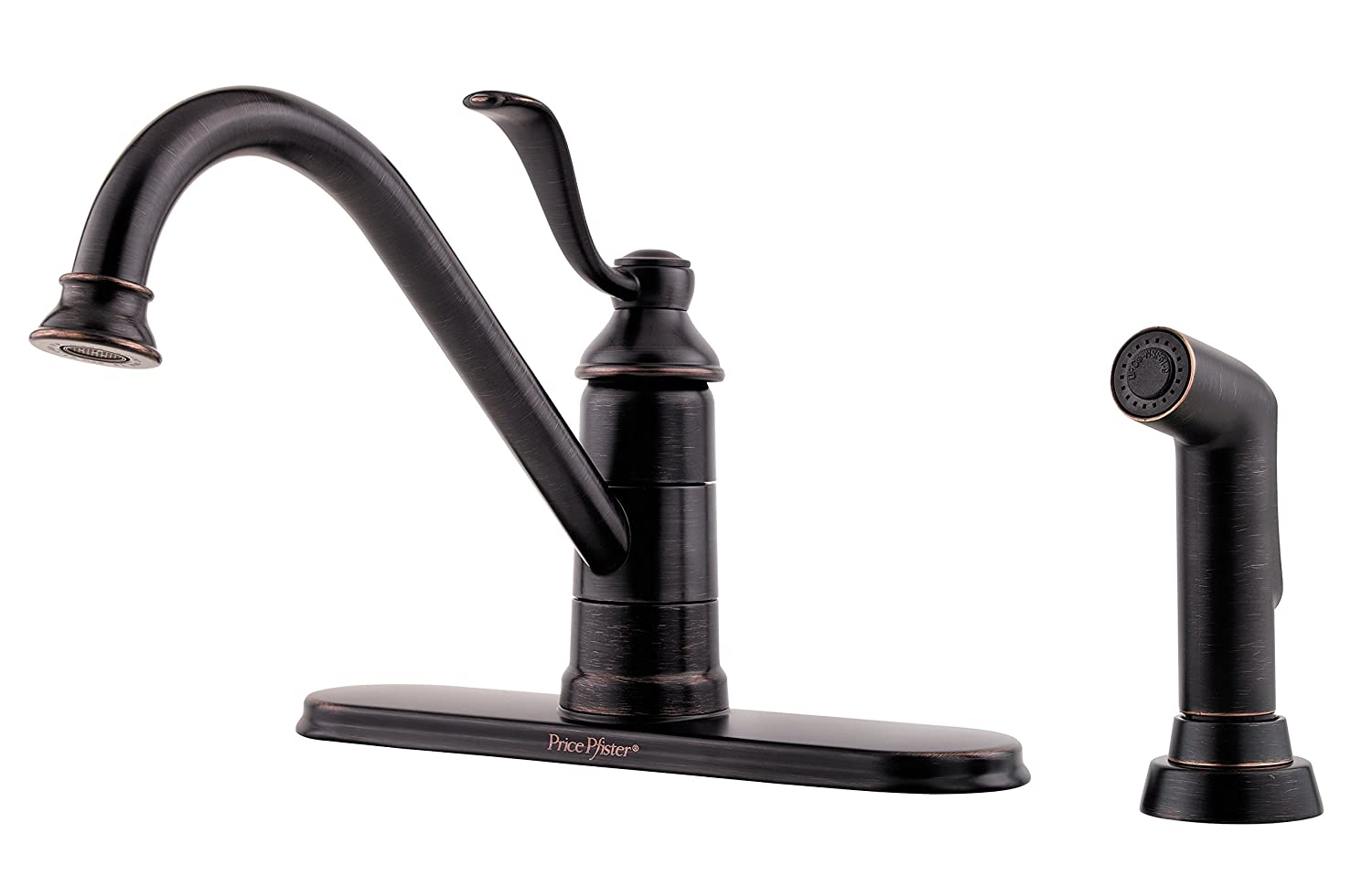 Pfister GT344PC0 Portland 1-Handle Kitchen Faucet with Side Spray in ...