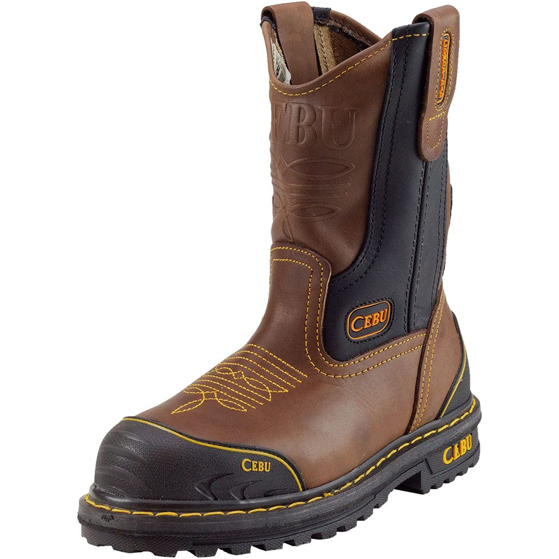 CEBU Men's Farmer Steel-Toe Work Boot