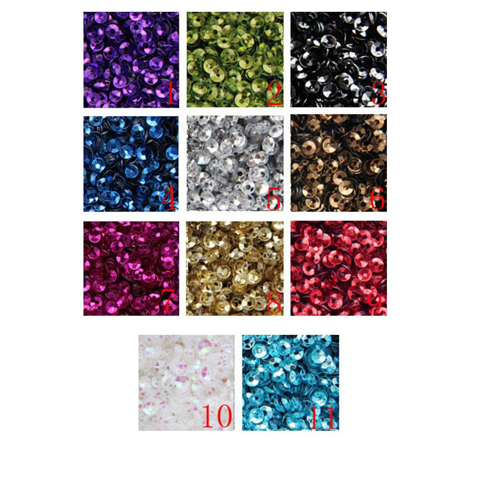 3mm Mini Tiny Cup paillettes colori nero oro. Loose Sequins for Embroidery, applique, Arts, Crafts and Embellishment 11colori KimmyKu