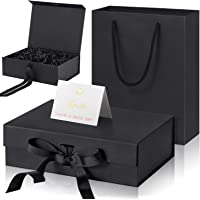 Luxury Present Box with Lids and Changeable Ribbon, Paper Bags, a Greeting Card and Tissue Paper Luxury Packaging Box…