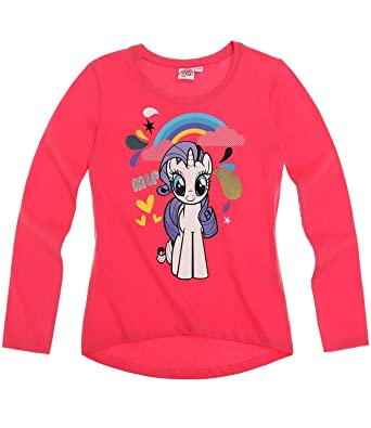 5e162754110 My Little Pony Girls Long Sleeve T-Shirt - fuchsia - 10 yrs  Amazon.co.uk   Clothing