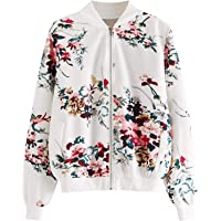 Romwe Women's Long Sleeve Zipper Quilted Casual Short Bomber Jacket