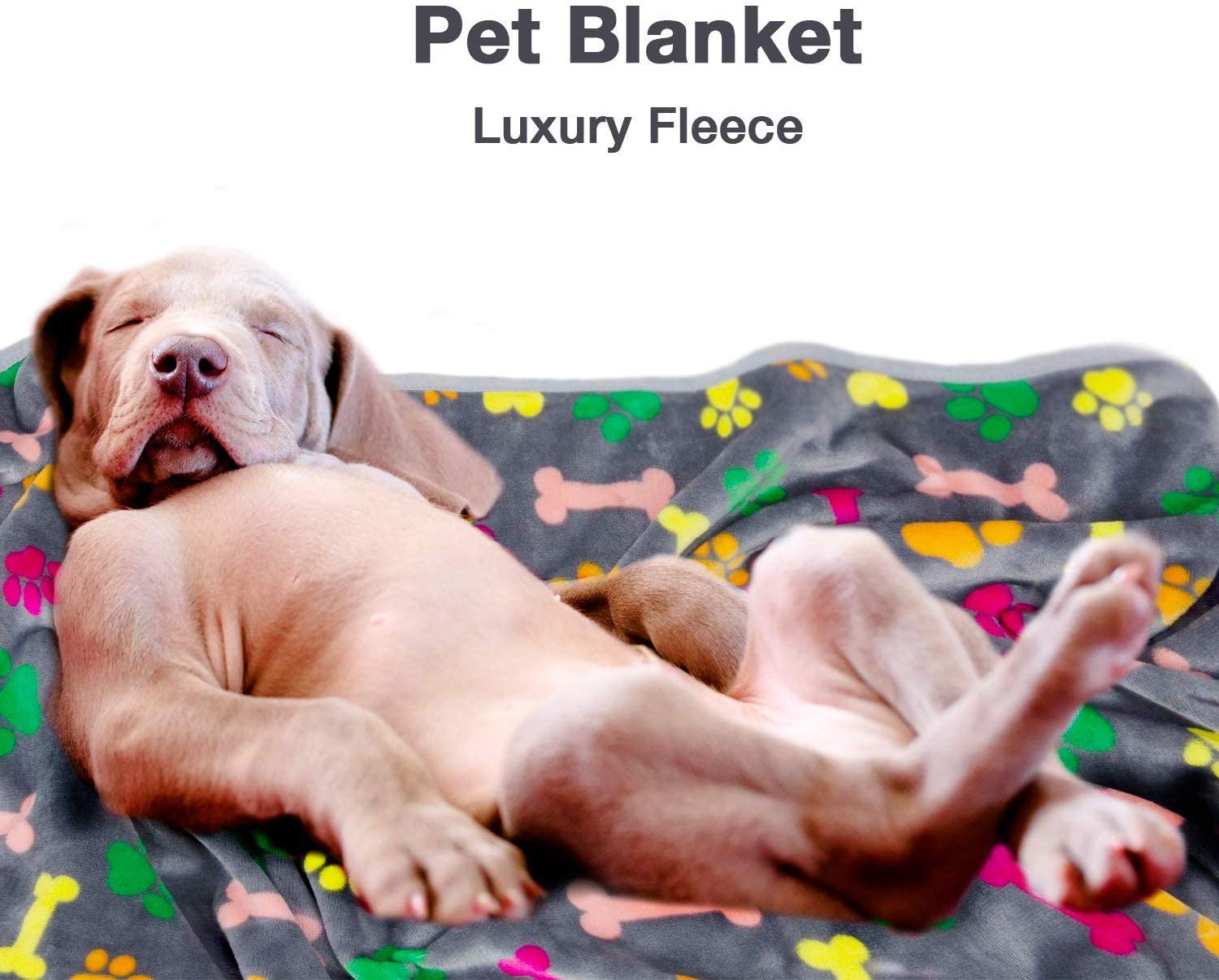 Medium and Large Dogs Cats and Kittens ALLISANDRO Extra Softness and Fluffy 350 GSM Lightweight Microplush Fleece Throw Blanket for Small All Season Machine Washable Pet Bed Mat Puppies