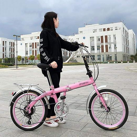 Paseo Bicicleta Plegable Hombres Niños Y Mujeres De 20 Pulgadas De ...