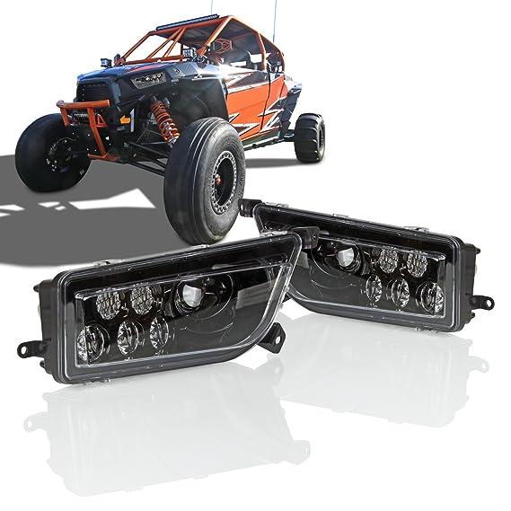 Amazon.com: Optix P.RA 2015-2017 Polaris RZR 1000 XP Style Black LED Headlight - Fits Polaris General and Polaris RZR: Automotive