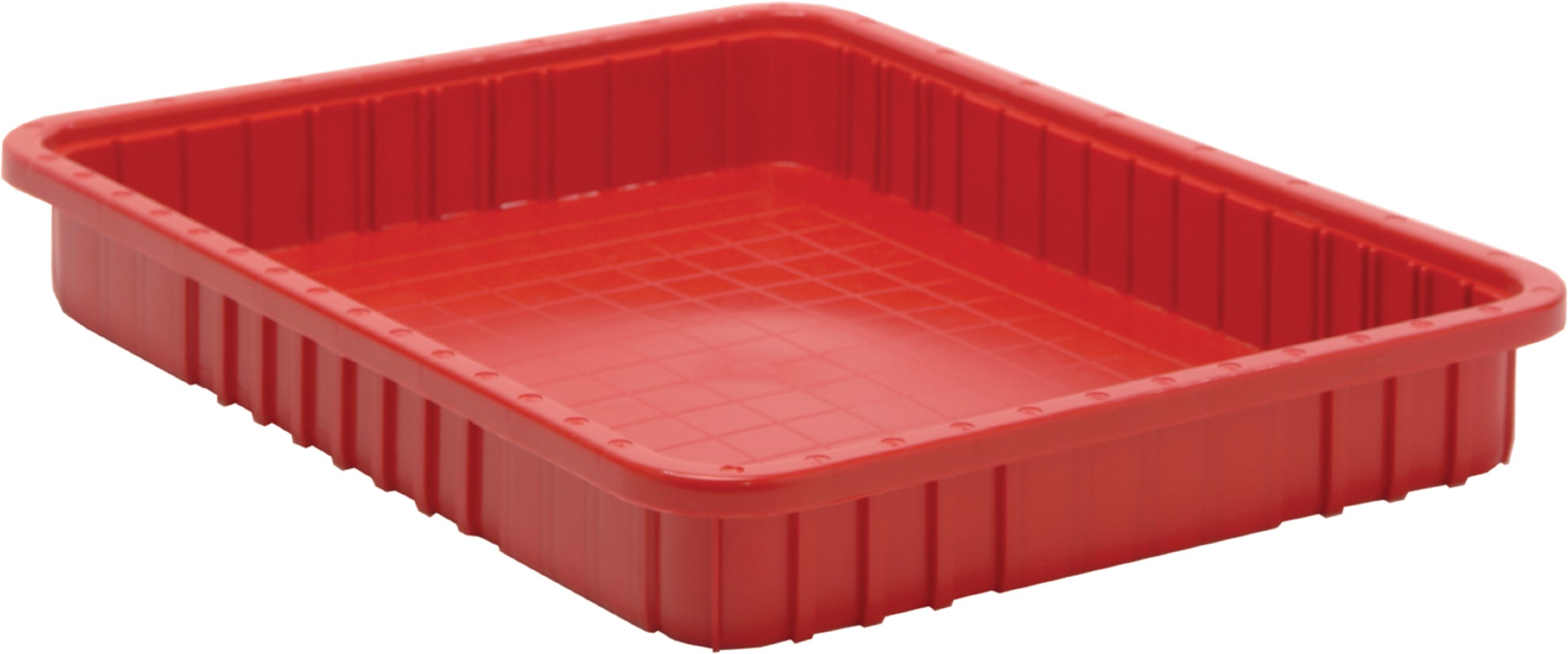 Quantum Storage Systems DG93030RD Dividable Grid Container 22-1/2-Inch Long by 17-1/2-Inch Wide by 3-Inch High, Red, 6-Pack