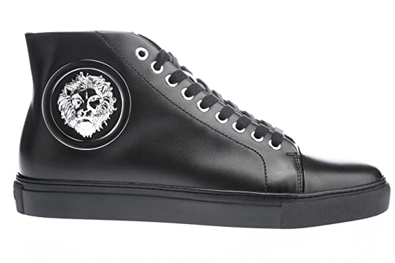 47e36b2fea Image Unavailable. Image not available for. Colour: Versus Versace High Top  Lion Head Trainer ...