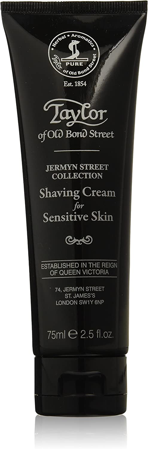 Taylor of Old Bond Street Jermyn Street Collection- Crema de afeitar para pieles sensibles, 75 ml