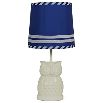 Amazon royal blue nursery lamp shade with white owl base cfl royal blue nursery lamp shade with white owl base cfl bulb included aloadofball Image collections