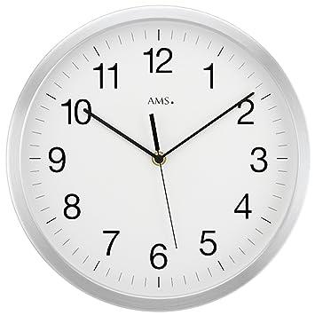 AMS Funk Wanduhr Groß (Durchmesser 50cm), Küchenuhr Büro Wanduhr Rund In