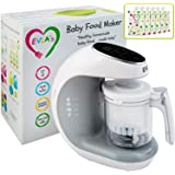Baby Food Maker | Baby Food Processor Blender Grinder Steamer | Cooks & Blends Healthy Homemade Baby Food in Minutes | Self C