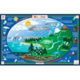 Tot Talk Weather Educational Placemat for Kids, Washable and Long-Lasting