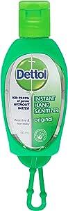 Dettol Antibacterial Original Hand Sanitizer, 50ml + Bag Tag
