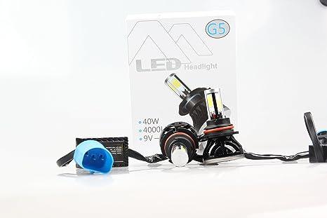 LED Bombillas para faros delanteros Kit de conversión, Auto DN Super brillante 6000 lm luz de ...