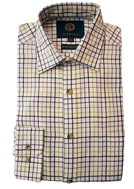 a73519b0 Viyella - Classic Medium Tattersall Check Shirt: Amazon.co.uk: Clothing