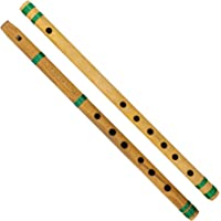 Indian Bamboo Flute Bansuri, Set of 2, Fipple & Transverse, For Kids