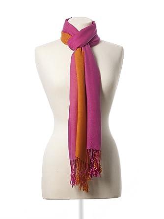 1d59cdeebf Women's Merino Wool and Silk Ombre Pashmina Shawl by Dessy Group -  Clementine/Fuchsia