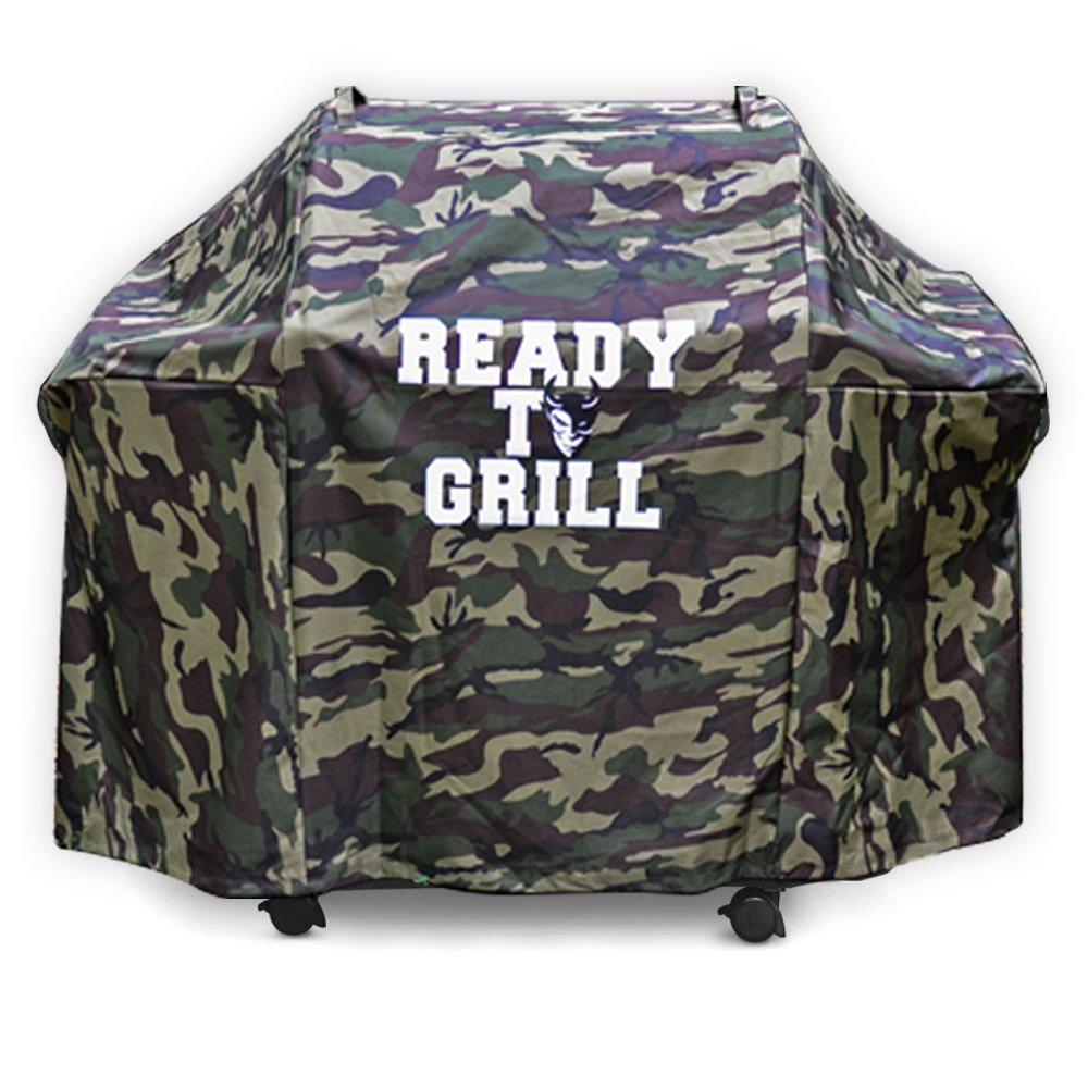 'Ready to Grill® Camouflage Universale Grill della copertura 58–147x 61x 107cm–Premium di barbecue, impermeabile, resistente ai raggi UV–Telo di copertura/Custodia/telone adatto per esempio per Weber, etc