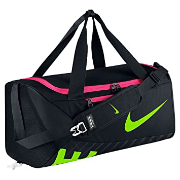 0108b54f2ff Nike Alpha Adapt Crossbody Medium Training Duffel Bag Black Electric Green   Amazon.co.uk  Sports   Outdoors