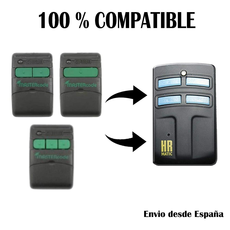 MV12 y MV123 MANDOS Puertas PORTON COCHERA Mando Garaje Universal HR Multi 2 Compatible con CLEMSA MASTERCODE MV1