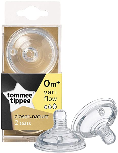 2 Pack Free Shipping! Tommee Tippee Closer To Nature Easi-Vent Variflow Teats