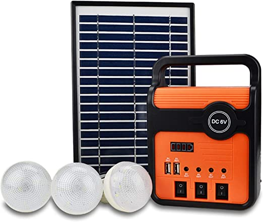 WSHA Panel de energía Solar Kit generador Bluetooth ...