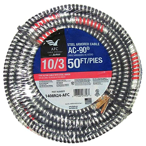 AFC 1408N24-AFC 50 ft. 10/3 BX/AC-90 Armored Electrical Cable ...