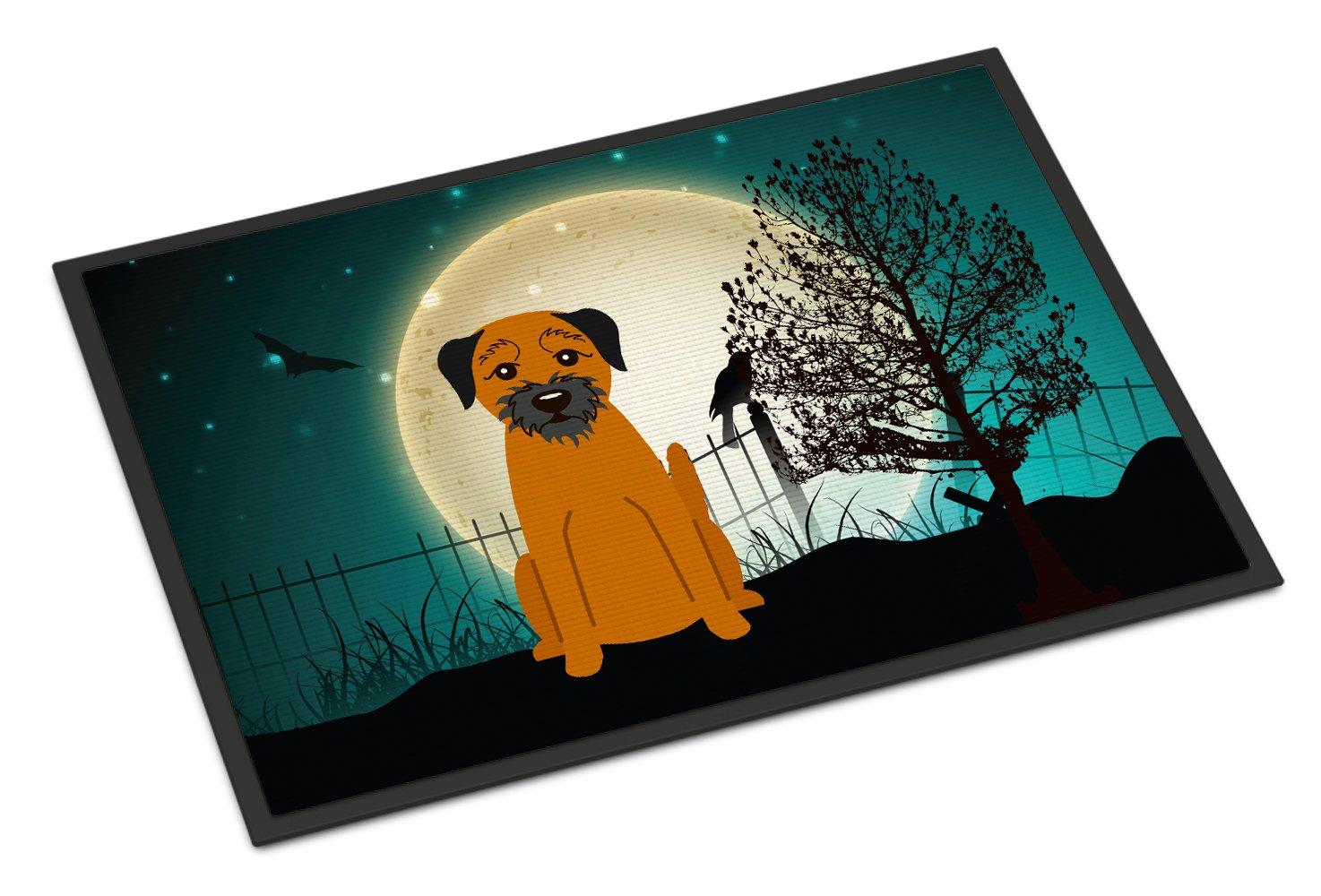 Carolines Treasures Halloween Scary Border Terrier Indoor or Outdoor Mat 24x36 BB2229JMAT 24 x 36 Multicolor