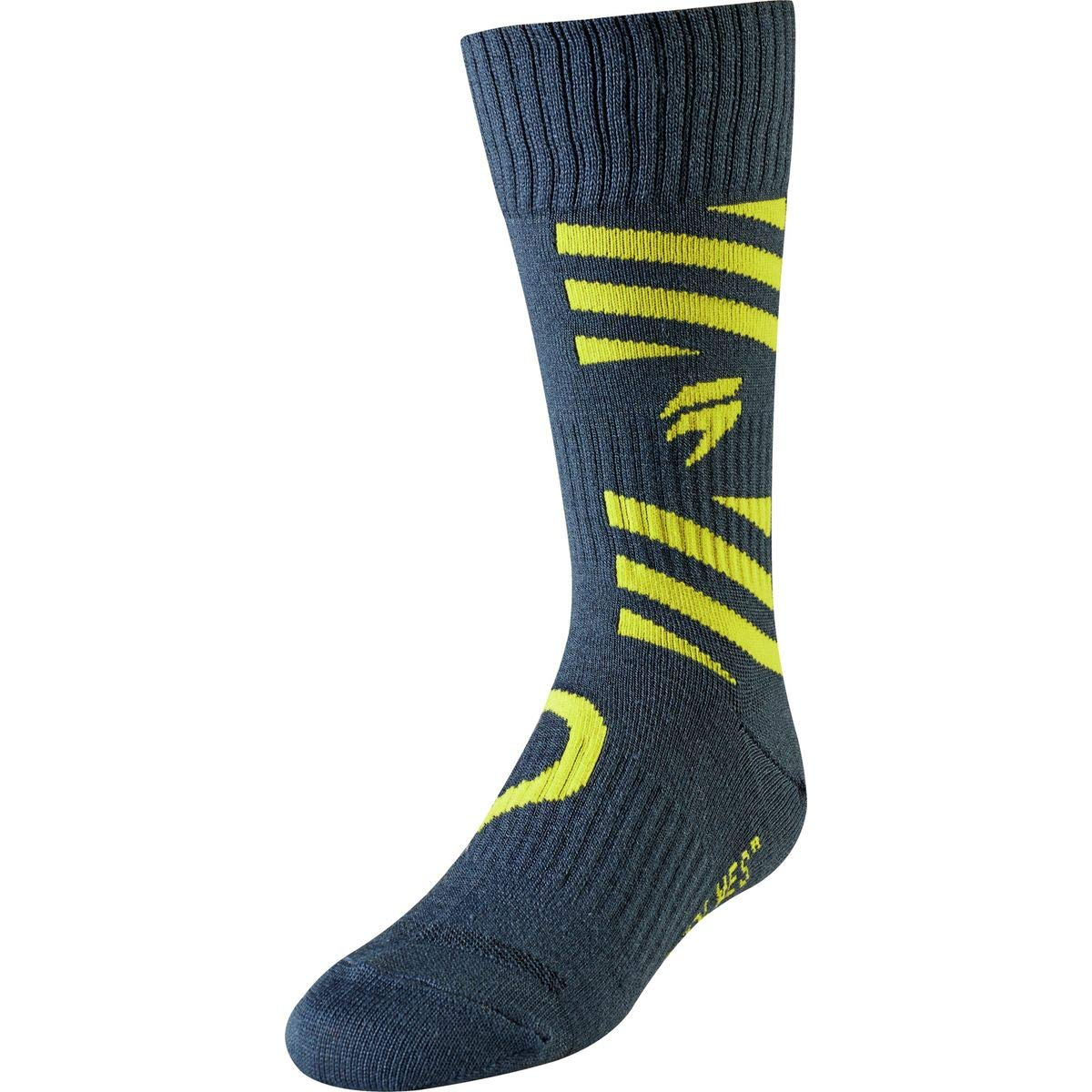 Shift Racing Whit3 Muse Youth Off-Road Motorcycle Socks Navy//Yellow//Small//Medium