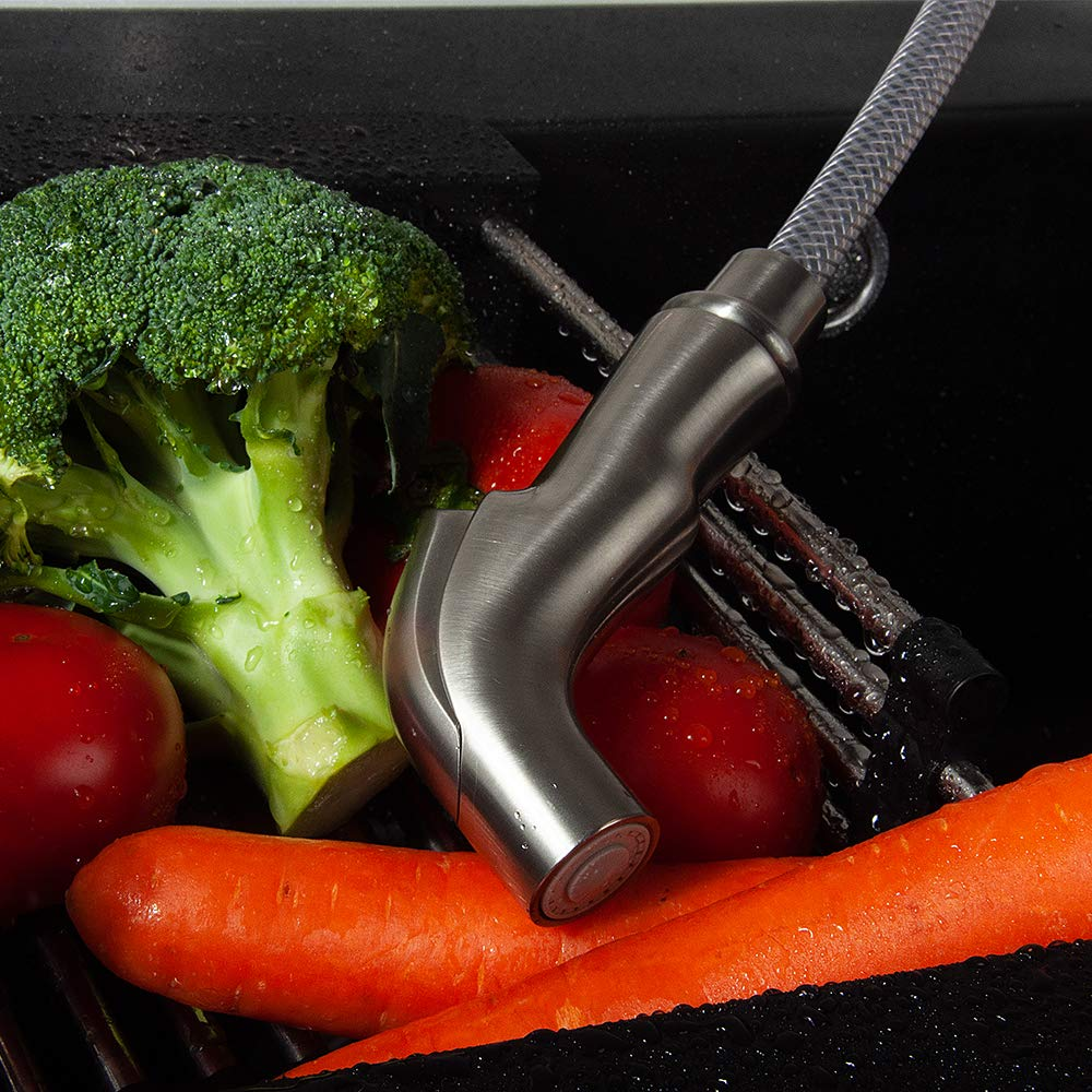 Kitchen Side Sprayer Brushed Nickel,Kitchen Sink Sprayer Head Replacement,Kitchen Sink Faucet Sprayer Hose,Kitchen Sprayer Head Replacement,Kitchen Sink Pull Out Spray head,Kitchen Sink Spray Hose by Houtingmaan (Image #8)