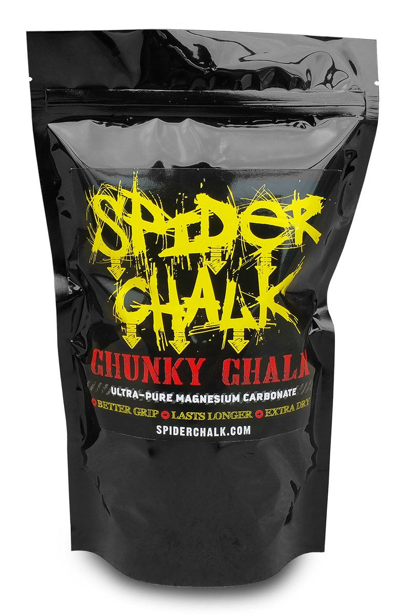 Loose Lifting Chalk, Chunky Texture Climbing Chalk Powder Hand Chalk for Rock Climbing, Gym & Weightlifting 8oz Spider Chalk