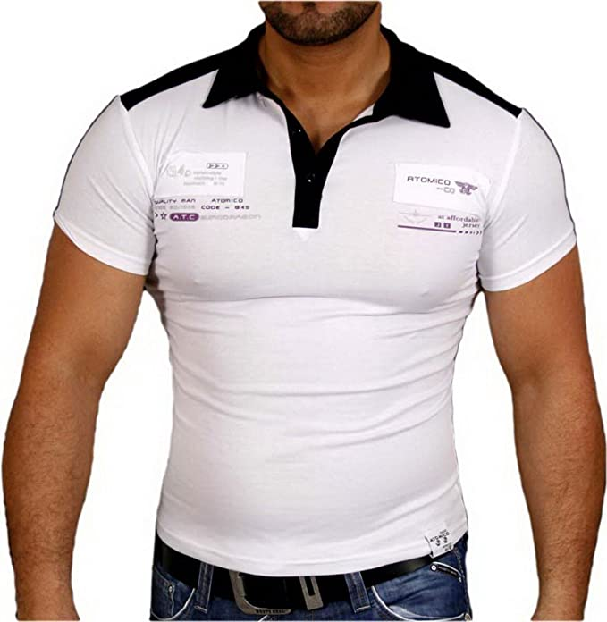 Baxboy Hombre Camisa Cuello de Polo Camiseta de Manga Corta Polo ...