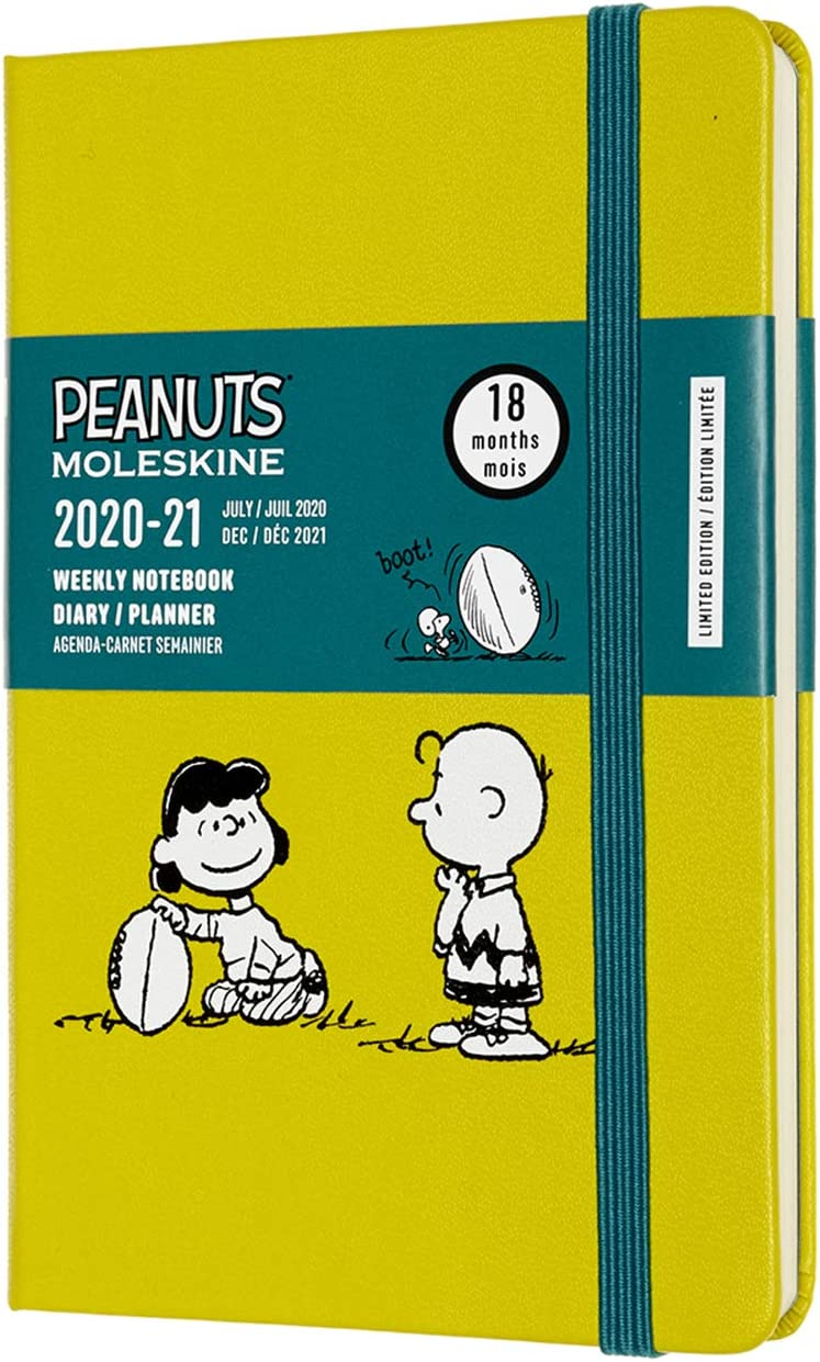 208 pages Edition Limit/ée Agenda Hebdomadaire 18 mois 2020//2021, Planificateur Hebdomadaire 2020//2021 Moleskine Th/ème Lucy et Charlie Brown Couverture Rigide Grand Format 13 x 21 cm