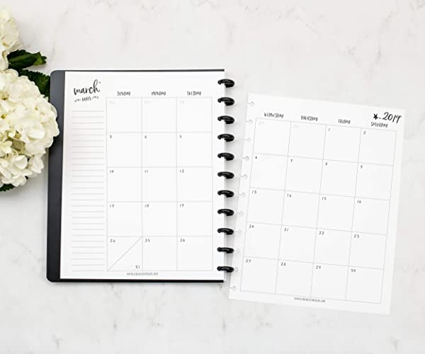 amazon com 2019 monthly calendar for disc bound planners fits 11