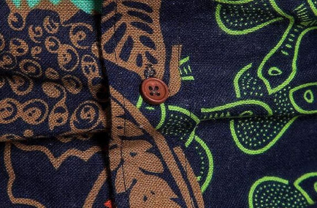 MOUTEN Mens Cotton Linen African Print Dashiki Shirt /& Pants 2 Pieces Outfits Plus Size