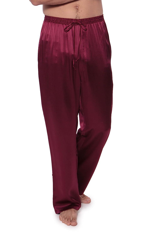 Mens 100% Silk Lounge Pajama Pants in Blue thoughtful Christmas gifts husband