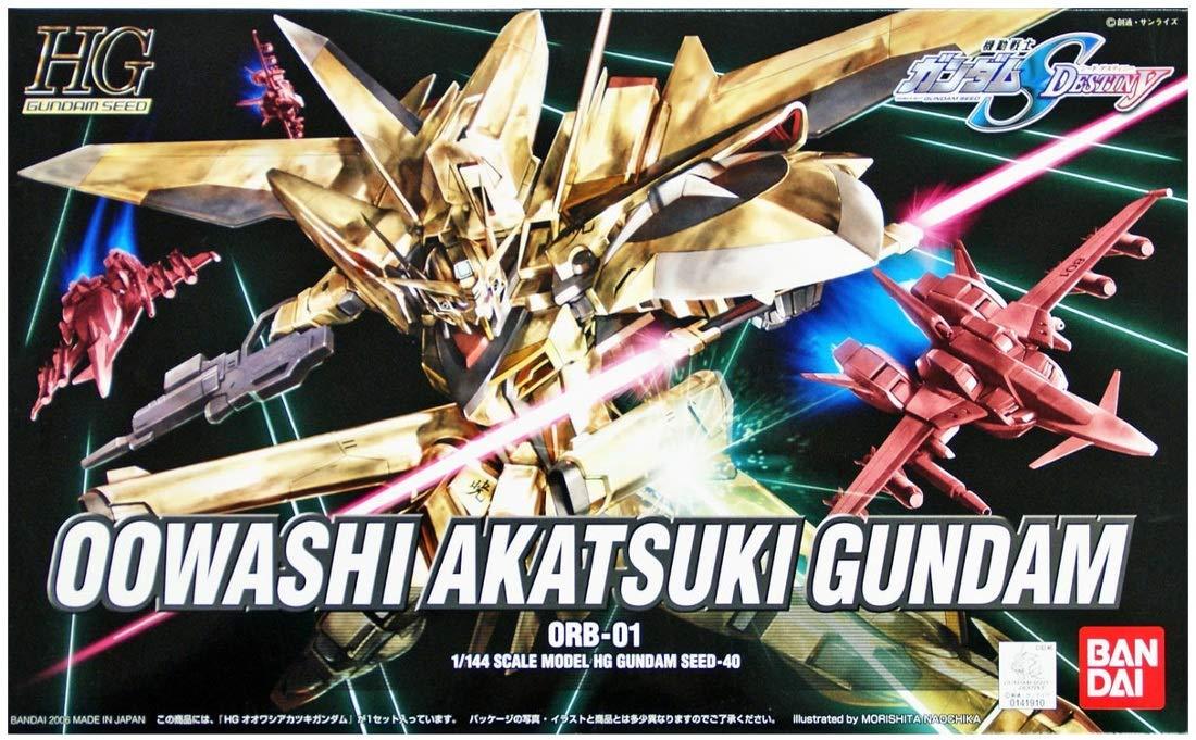 #40 Gold Oowashi Akatsuki Gundam 1/144 Model Kit HG Bandai