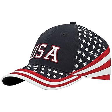 34cb0350ded MG Washed Cotton Twill Stars   Stripes USA Ball Cap Hat USA Flag Cap ...