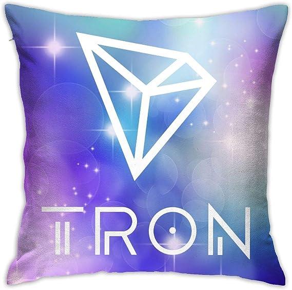 AOOEDM Tron TRX Blockchain Fundas de Almohada cuadradas ...