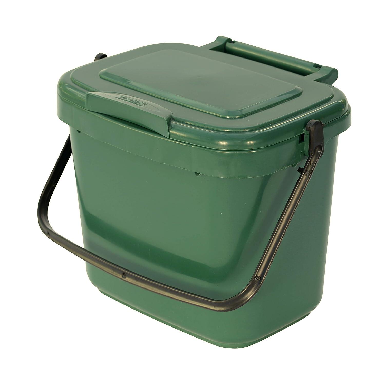 All-Green Küchenkomposteimer mit Kompostieranleitung – Plastik, 5 Liter, Grün VC 5L-Green-Caddy