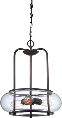 Quoizel TRG1816OZ Trilogy Farmhouse Pendant Lighting, 3-Light, 300 Watts, Old Bronze 20 H x 16 W