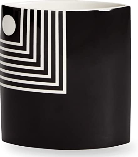 Now House by Jonathan Adler Small Mod Lines Vase, Black and White