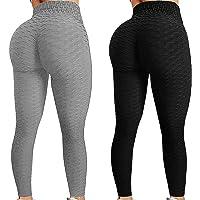 2 st TIK Tok leggings rumplyft leggings kvinnor yoga byxa hög midja rumpa lyft bubbla höftlyft träningsbyxor