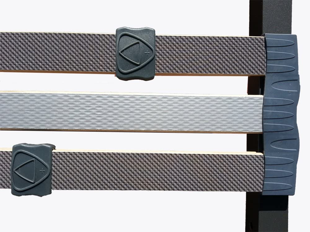 HOGAR24 Somier Multiláminas con Reguladores Lumbares, Sin Patas, Acero, 140x190cm